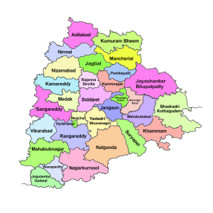 Telangana state Telangana state 31 districts Telangana Map New
